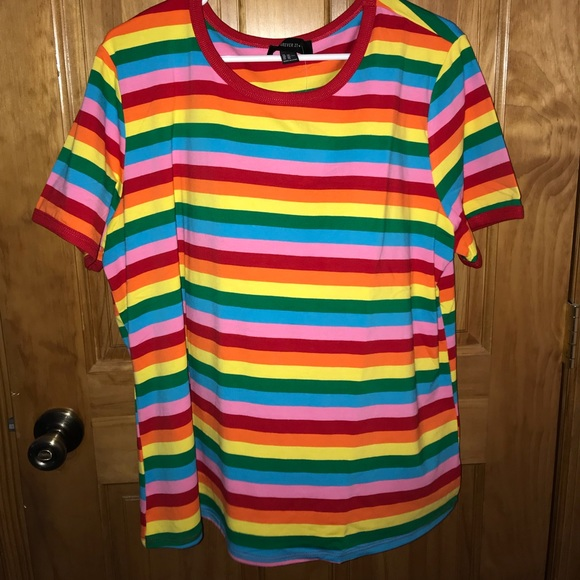 e2d15d65c7c Plus size rainbow striped tee!